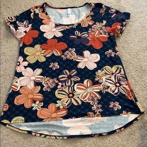 Lularoe Classic T with multicolor flowers.
